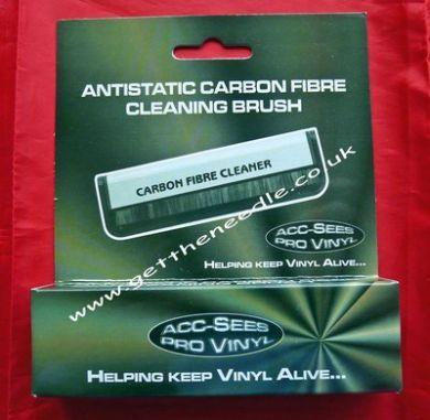 Acc-Sees Carbon Fibre Anti static Vinyl Record Cleaner Brush