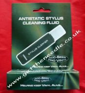 Acc-Sees Anti Static Vinyl Record Stylus Cleaner Fluid & Brush