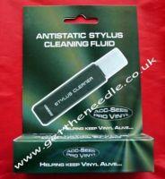 Acc-Sees Anti Static Vinyl Record Stylus Cleaner Fluid & Brush
