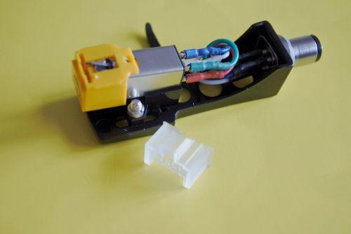 Black Headshell Audio Technica AT91 Cartridge with Original LP/45 Stylus