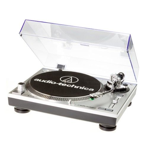 AT-LP-120USB SILVER Professional 3 speed Direct Drive Turntable with Cartridge